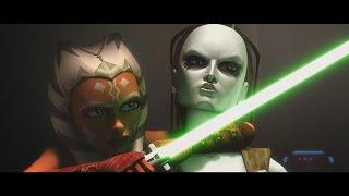 Download Video Star Wars: The Clone Wars - Ahsoka & Plo Koon vs. Aurra Sing & Boba Fett [1080p] MP3 3GP MP4