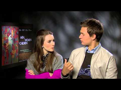 Ansel Elgort and Kaitlyn Dever talk sins, selfie faces and more for the 'Men, Women & Children' movi