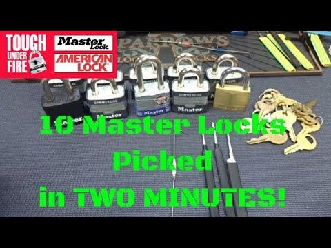 Взлом отмычками Masterlock   (1274) 10 MasterLocks, 2 minutes