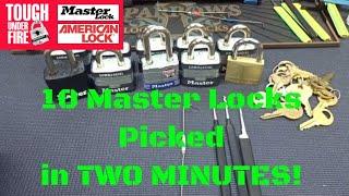 (1274) 10 Masterlocks, 2 Minutes