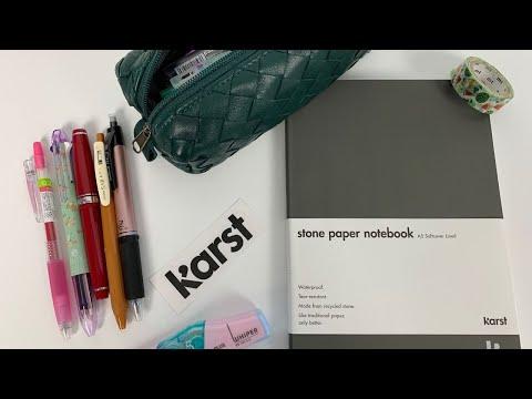 Karst Stone Paper Notebook Pen Tests