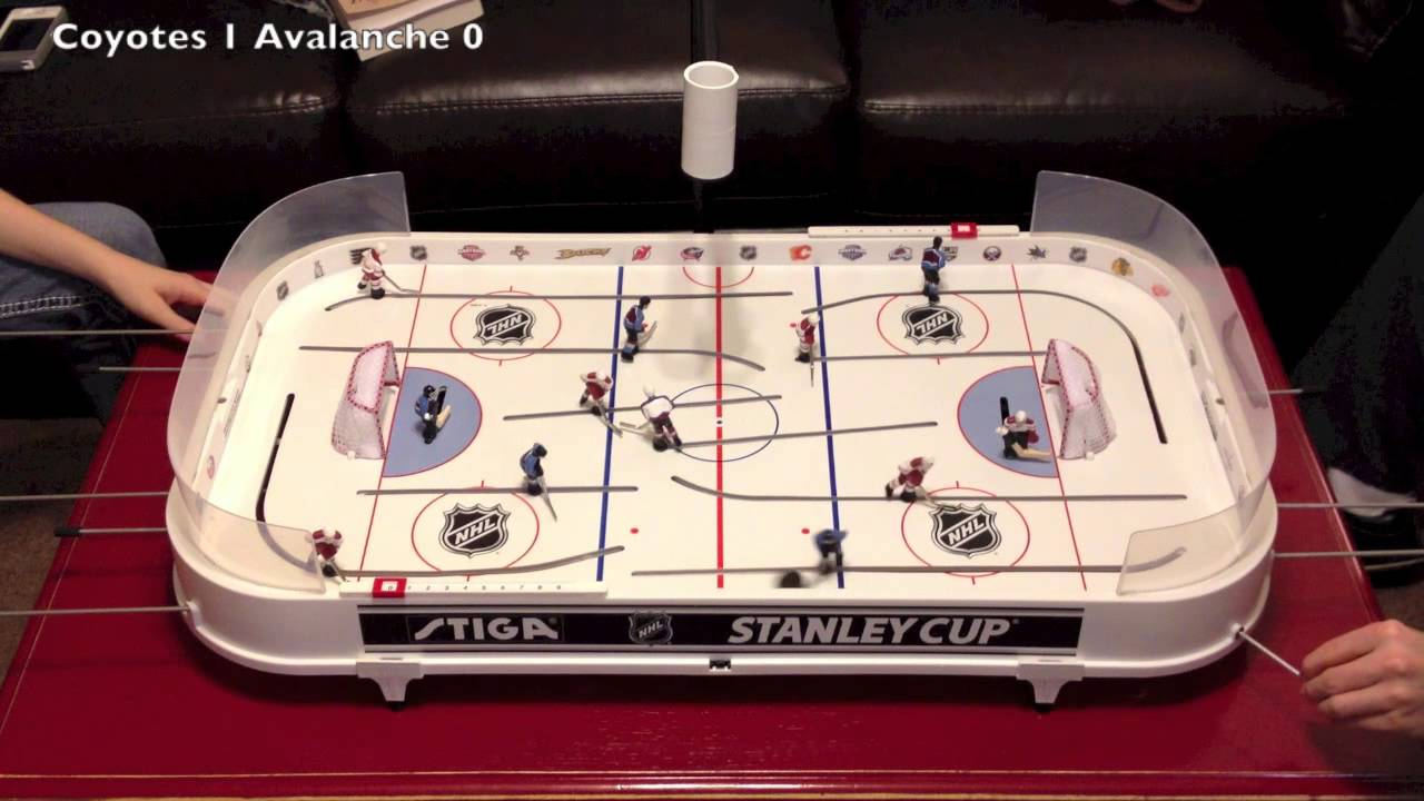 Stiga Hockey Game Coyotes (Jeff) vs. Avalanche (Lindsay ...