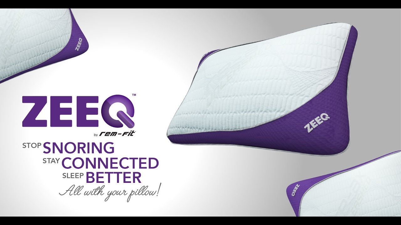 ZEEQ Smart Pillow: Stream Music, Stop Snoring, Sleep ...
