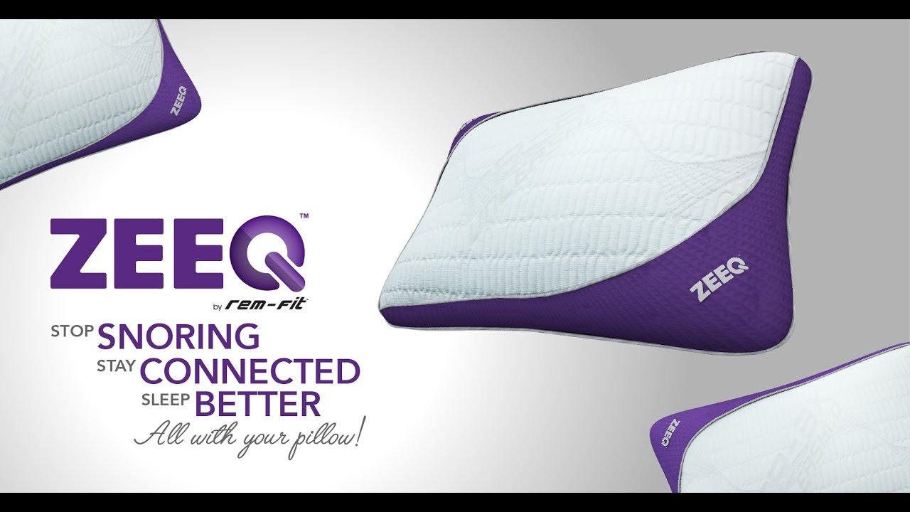 zeeq smart pillow stream music stop snoring sleep smarter