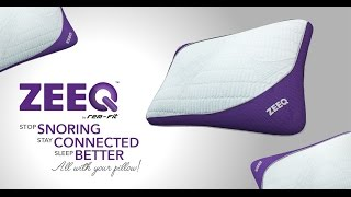 ZEEQ Smart Pillow: Stream Music, Stop Snoring, Sleep Smarter