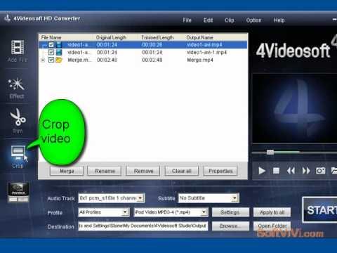 How to convert HD video--4Videosoft HD Converter