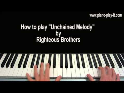 Unchained Melody Piano Tutorial Righteous Brothers