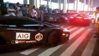 Lamborghini Bull Run Medan Tour 2015 @Kuala Namu International Airport