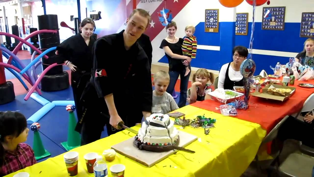 ATA Family Martial Arts Littleton Centennial Sword Cut The Birthday Cake