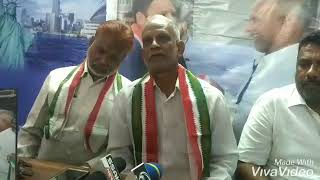 Charminar Constituency Congress Party V.Ptesident  Haji Mohd.Moosa Qasim To Speech At Party Office C