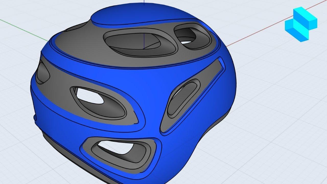 Bike Helmet Part 1   Advanced 3D modeling tutorial   Shapr3D - Bike Helmet Part 1   Advanced 3D modeling tutorial   Shapr3D