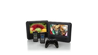 RCA 2pack Portable DVD Players with Car Mounts and Movie