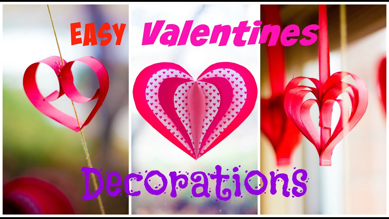 3 easy valentines day decorations youtube for Decorate for valentines day
