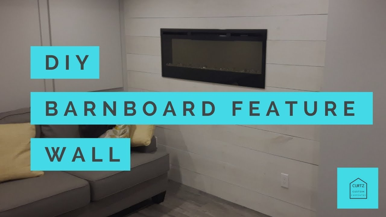 DIY Barnboard Feature Wall Time-lapse - YouTube