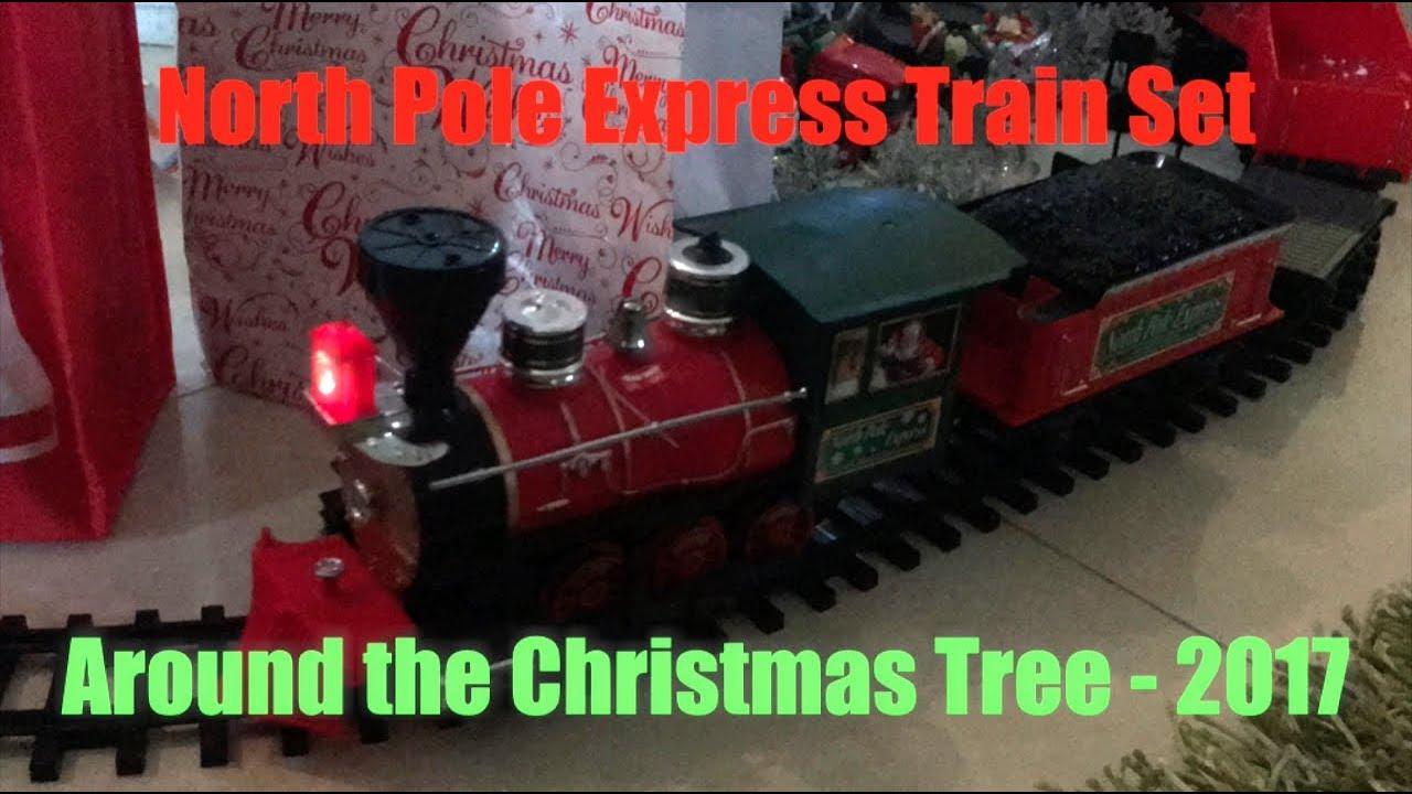 Sweet train going up the tree. It's kind of a Polar ... |Polar Express Train Set Christmas Tree