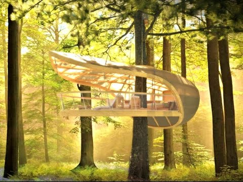 E'terra Samara is an Amazing Treehouse Retreat Designed for the Forests of Canada