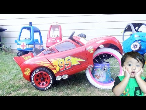 Disney Cars Lightning McQueen-Toy Vehicles Play For Kids - Видео онлайн