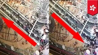 Escalator malfunction  Hong Kong escalator reverses, speeds up injuring 18 people   TomoNews