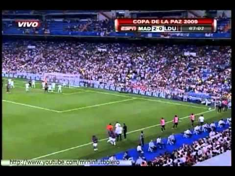 Real Madrid vs Liga De Quito 4 2 Copa De La Paz Peace Cup 2009 ESPN