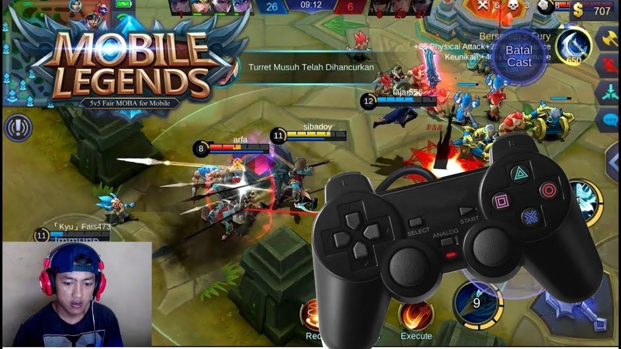 main mobile legends di pc/laptop menggunakan joystick/gamepad murahan