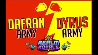 DafranArmy vs DyrusArmy in realm royale + Chat reaction!
