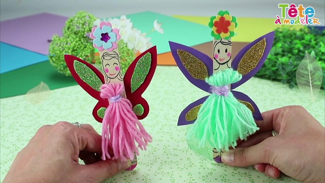 TUTO] Petites fées en bâtonnets - Une vidéo by Tête à modeler - YouTube