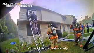 Bodycam Shows Efforts To Save Woman & Children Trapped in Burning Apartment