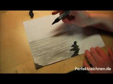 Ja Hey Zeichnen Lernen Wasser Wellen Meer Ozean Strand Zeichnen