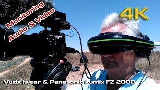 Vuzix Iwear Video headphones with Panasonic FZ 2000