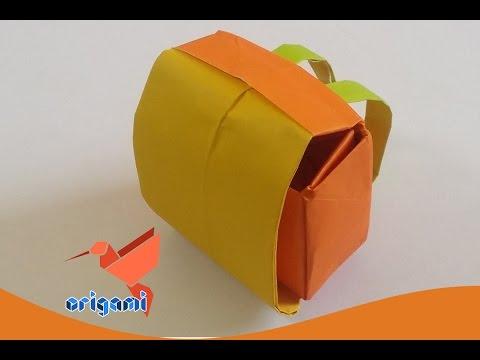 origami school bag backpack easy