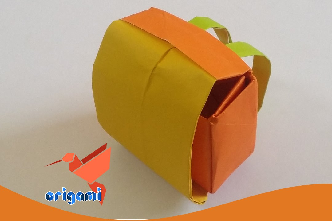 origami school bag backpack easy youtube