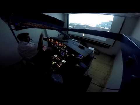 Frankfurt to London Heathrow on A320 Home cockpit