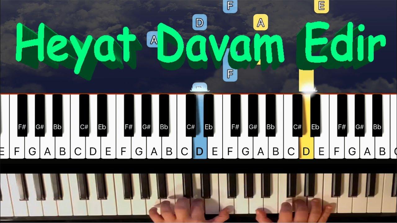Heyat Davam Edir piano synthesia