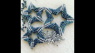 Open Double-Sided Beadwoven Star Tutorial