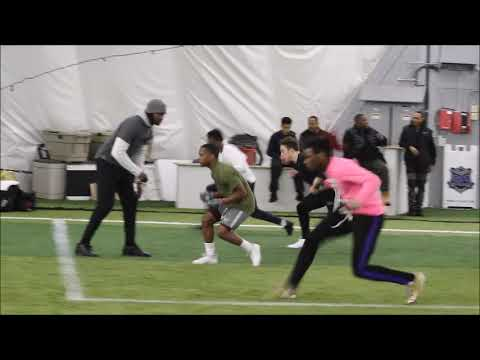 Harper Woods 2020 WR/DE Deovion Brown highlights from Max Ex Training