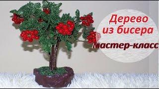 Дерево из бисера КАЛИНА ИЗ БИСЕРА / Мастер-класс