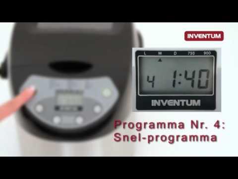 Wonderlijk Inventum broodmachine - YouTube DU-67
