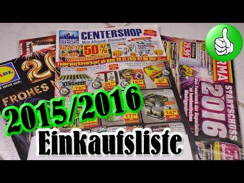 Feuerwerk Einkaufsliste 2015/2016 - Pyro Cat Klaut Prospekt [Full HD]