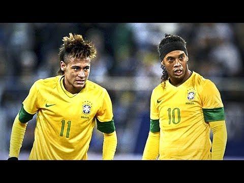 Neymar JR VS Ronaldinho ● MAGIC Skills for Brazil ● 1999/2017