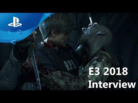 Resident Evil 2 - Gameplay Demo - E3 2018 Interview [PS4, deutsche Untertitel]