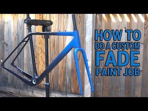 How To Custom Fade Paint Job For Your Bike Youtube