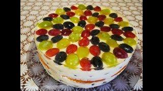 на ДЕСЕРТ рецепт ВИНОГРАДНЫЙ торт рецепт Сладкий десерт Творожный десерт Вкусный десерт Десерты