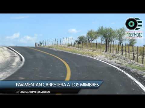 PAVIMENTAN CARRETERA A LOS MIMBRES