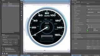 Getting Started with GL Studio: Instrument Cluster Speedometer