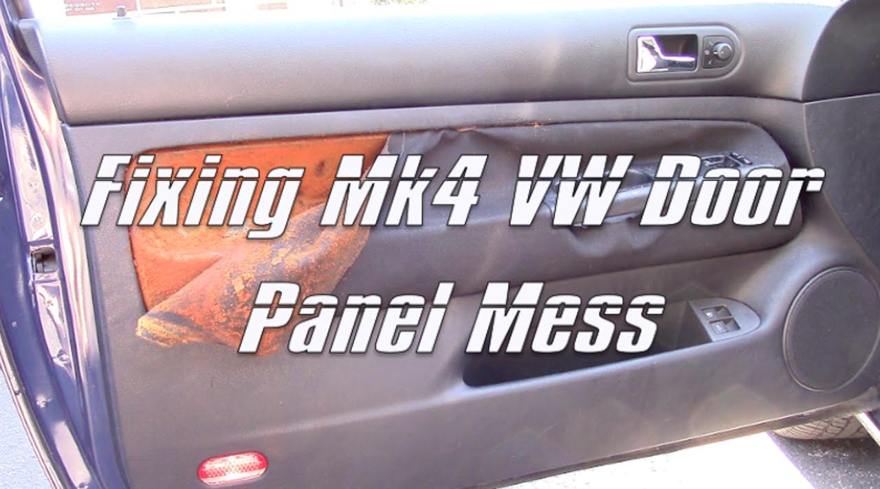 1999 05 VW Golf GTI Jetta Mk4 MkIV Door Panel Cloth Removal Mess U0026 Plasti  Dip: Part 1   YouTube