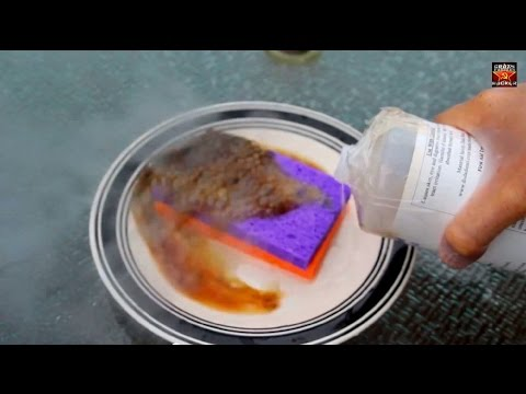 Sulfuric Acid and Sponge Reaction - Chemistry experiment