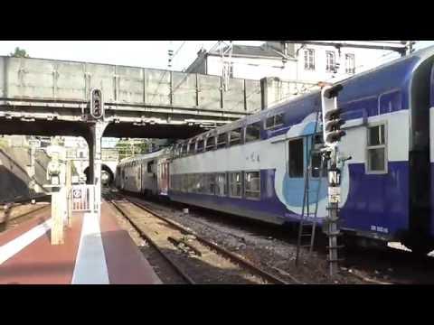 Z5600 Transilien : Départ de la gare de Versailles Château Rive Gauche sur la ligne C du RER
