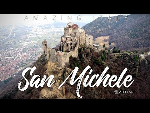 Italy by Drone Sacra di San Michele Abbey, Piemonte, Italy