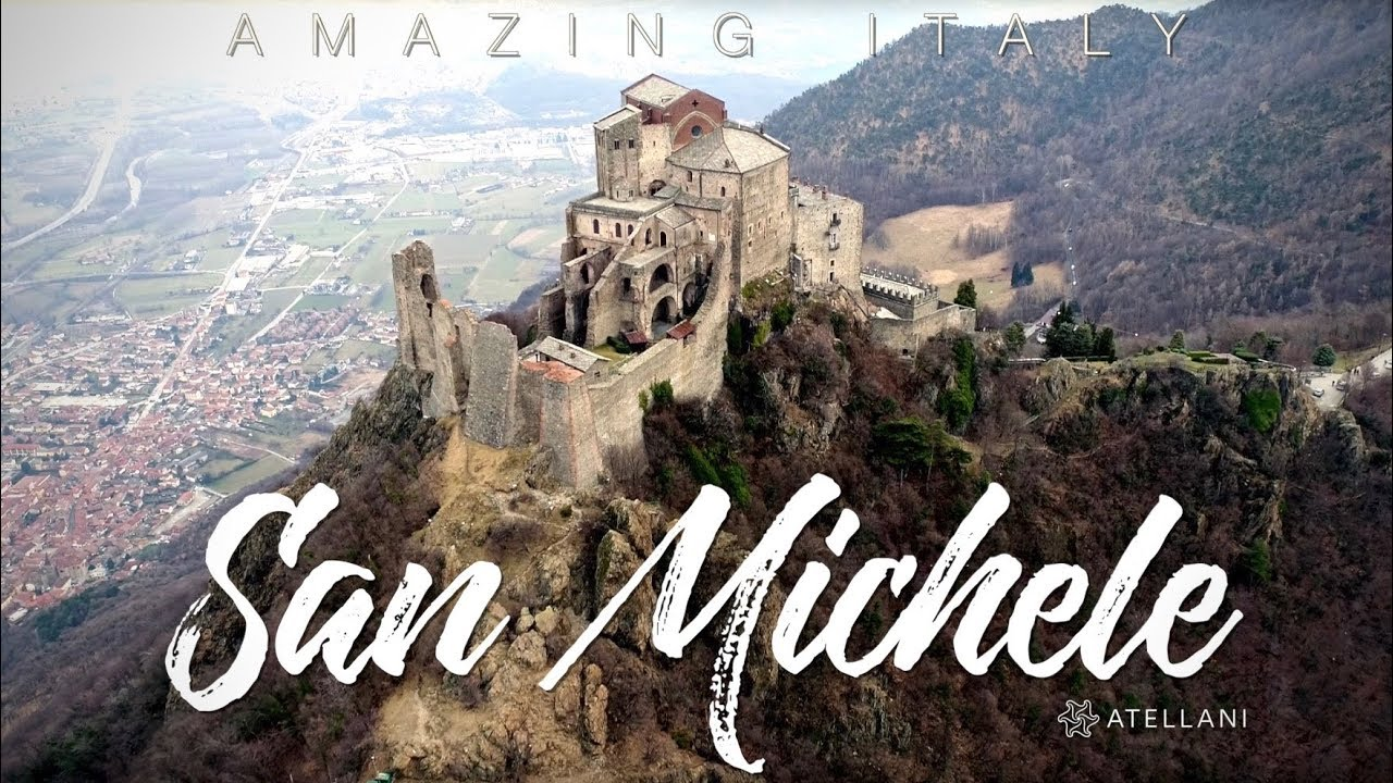 Italy by Drone Sacra di San Michele Abbey, Piemonte, Italy - YouTube