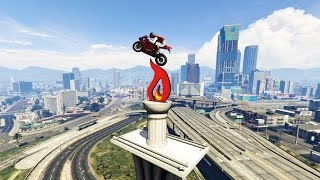 INSANE BIKE STUNT! - (GTA V Stunts & Fails)